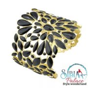 Sibia Palace Black Gold Exotic Cuff