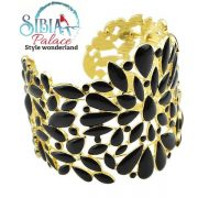 Sibia Palace Black Gold Exotic Cuff Left Side