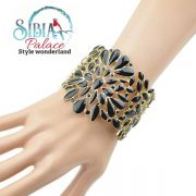 Sibia Palace Black Gold Exotic Cuff Model