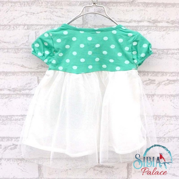Green Polka Dot Summer Dress