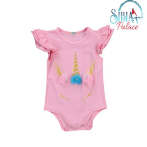 Cute Baby Girl Unicorn Jumpsuit