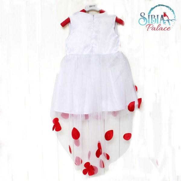 Kids Flower Petals Party Wedding Dress