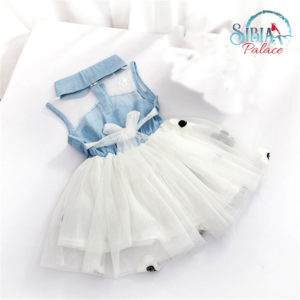 Kids Baby Girls Sleeveless Denim Shirt