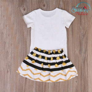 Little Sister White T-shirt and Skirt