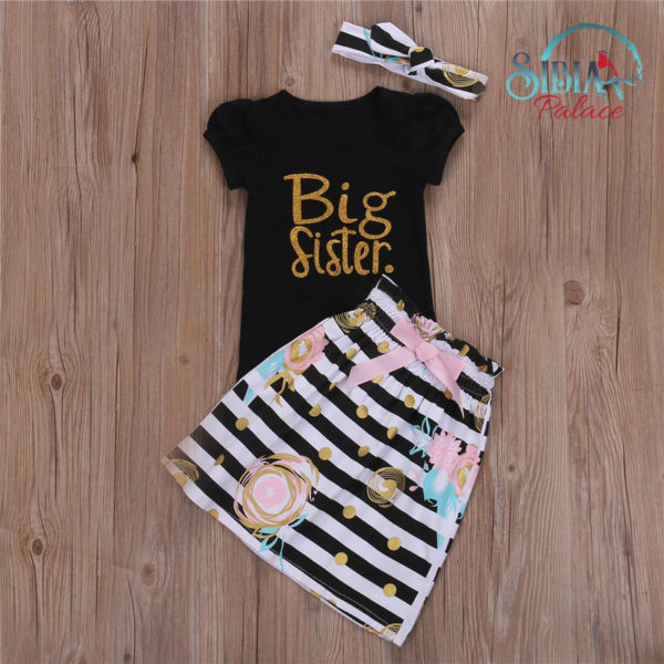 Baby Girl Cute Black T-shirt