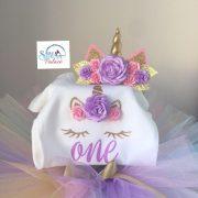 Pastel Unicorn Sibia Palace Birthday Set Year One Closeup