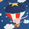 Sibia Palace Elephant On Hot Air Baloon Round Baby Play Mat With Drawstring closeup