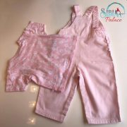 Sibia Palace Girl Summer Pink Romper Set