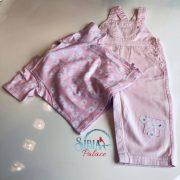 Sibia Palace Girl Summer Pink Romper Set 2Pcs