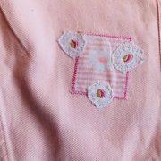 Sibia Palace Girl Summer Pink Romper Set Close