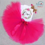 Sibia Palace My 1st Birthday Candy Pink Princess Romper Set