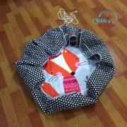 Sibia Palace My Foxy Friend Baby Kids Round Mat Cotton