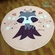 Sibia Palace My Peachy Raccoon Round Baby Kids Play Mat
