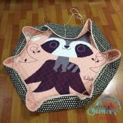 Sibia Palace My Peachy Raccoon Round Play Mat Strings