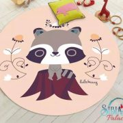 Sibia Palace My Peachy Raccoon Round PlayMat Design