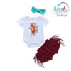 Baby Girls Bodysuit And Tassels Pants
