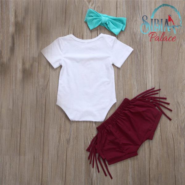 Baby Girls Bodysuit And Tassels Pants