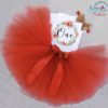 Sibia Palace Red Wreath One Baby Girl 1st Birthday Dress Outfit 3Pcs SetS