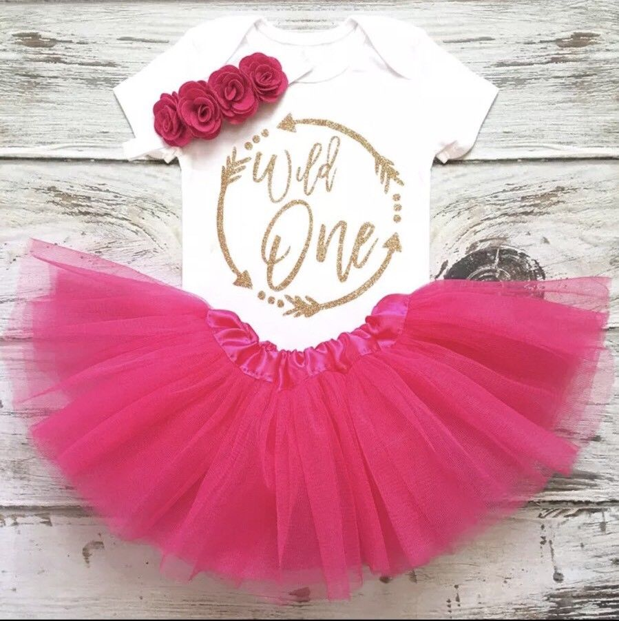 f719f648a Wild One Sibia Palace 1st Birthday Princess Romper. Wild One Hot Pink ...