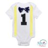 Sibia Palace Baby Boy My First Birthday Romper One Dotted Yellow