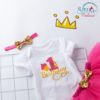 Sibia Palace First Birthday Cake Print New Design Hot Pink 3PCS close up