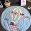 Sibia Palace Hot Air Balloon Baby Tummy Time Mats Kids Play Rug