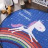 Sibia Palace Night Rider Unicorn Baby Tummy Time Mats Kids Play Rug Rainbow