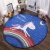 Sibia Palace Night Rider Unicorn Baby Tummy Time  Mats Kids Play Rug Night