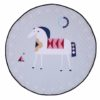 Sibia Palace White Friendly Horse Baby Tummy Time Mat Kids Play Rug Pretty