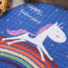 Sibia Palace Night Rider Unicorn Baby Tummy Time  Mats Kids Play Rug Blue