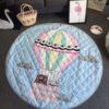 Sibia Palace Hot Air Balloon Baby Tummy Time Mats Kids Play Rug Blue