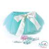 Baby Photo Prop Costume Pale GREEN & Pink Tutu & Headband Set Headband Baby