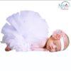 Baby Photo Prop Costume White Tutu & Headband Sets