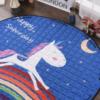 Sibia Palace Night Rider Unicorn Baby Tummy Time  Mats Kids Play Rug Cute