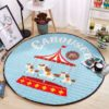 Sibia Palace Funfair Carousel Baby Tummy Time Mat Kids Play Rug