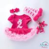 Sibia Palace Baby Girl Birthday Princess Is 2 Outfit Set 4 Piece