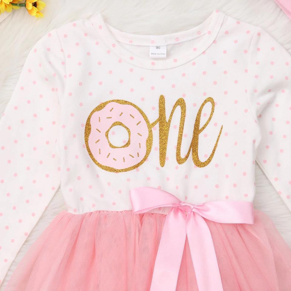 96bd8c747 Sibia Palace Baby Girl My Donuts 1st Birthday Dress Set