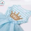 Sibia Palace Baby Girl Turned one Blue Summer Birthday Dress Frock