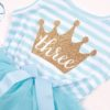 Sibia Palace Baby Girl Turned one Blue Summer Birthday Dress Frock Cute Outfit