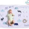 Sibia Palace My Growing Baby Milestone Blankets