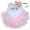 Baby Girl 1st Birthday One Theme 3 Piece Outfit Set