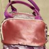 Peppa Pig Pink Lilac Toddler Kids Lunch Bag Back