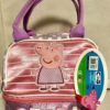 Peppa Pig Pink Lilac Toddler Kids Lunch Bag Pic