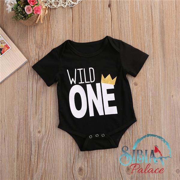 a6e256b5d0b Sibia Palace Baby Boy First Birthday Romper Wild One