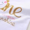 Sibia Palace Baby Girl 1st Birthday You Are My Sunshine 3 Pcs Outfits Closeup