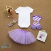 Sibia Palace Baby Girl 2nd Birthday Lilac Outfit Dress Set 4 Pcs Back