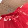 Sibia Palace Baby Girl 2nd Birthday Red Minnie Mouse Outfit Dress Set Close Up