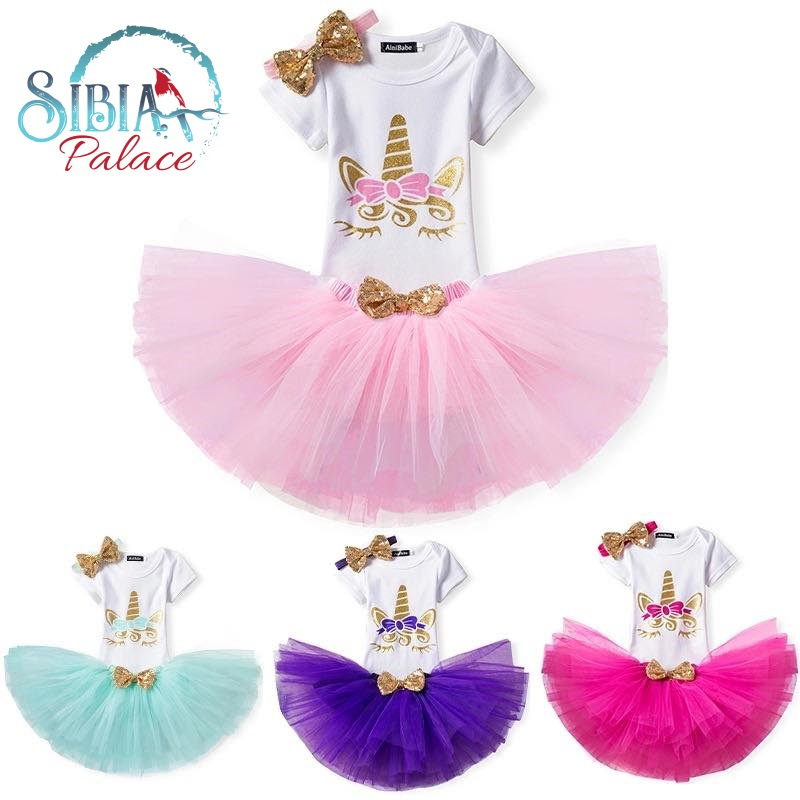1878789127d0 Sibia Palace Baby Girl 2nd Birthday Unicorn Purple Outfit Dress Set Romper  Tutu Bow