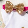 Sibia Palace Baby Girl 2nd Birthday Unicorn Red Outfit Dress Set bow