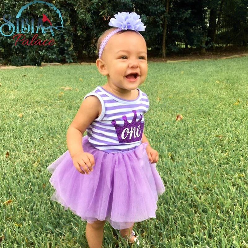 9bfa38fa0 Sibia Palace Baby Girl Purple One First Birthday Dress Frock Outfit